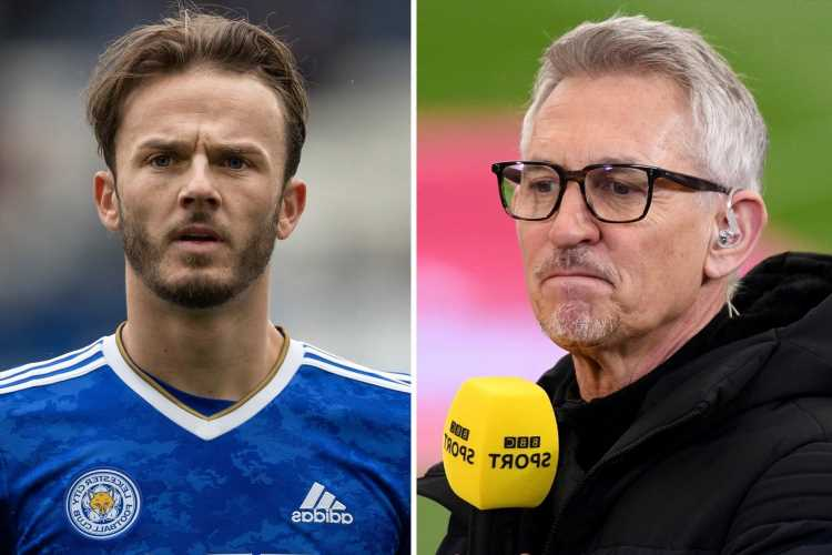 Arsenal transfer a 'backward step' for James Maddison, claims Leicester legend Gary Lineker