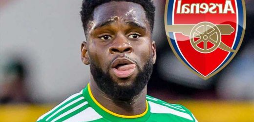 Arsenal transfer boost as Leicester 'pull out of Odsonne Edouard race as Celtic look for £20m fee for striker'