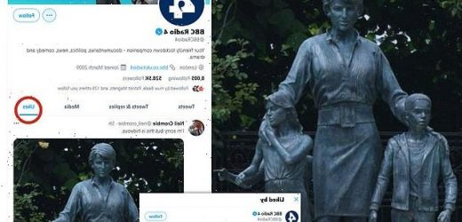 BBC Radio 4's Twitter likes comment that Diana statue is 'hideous'