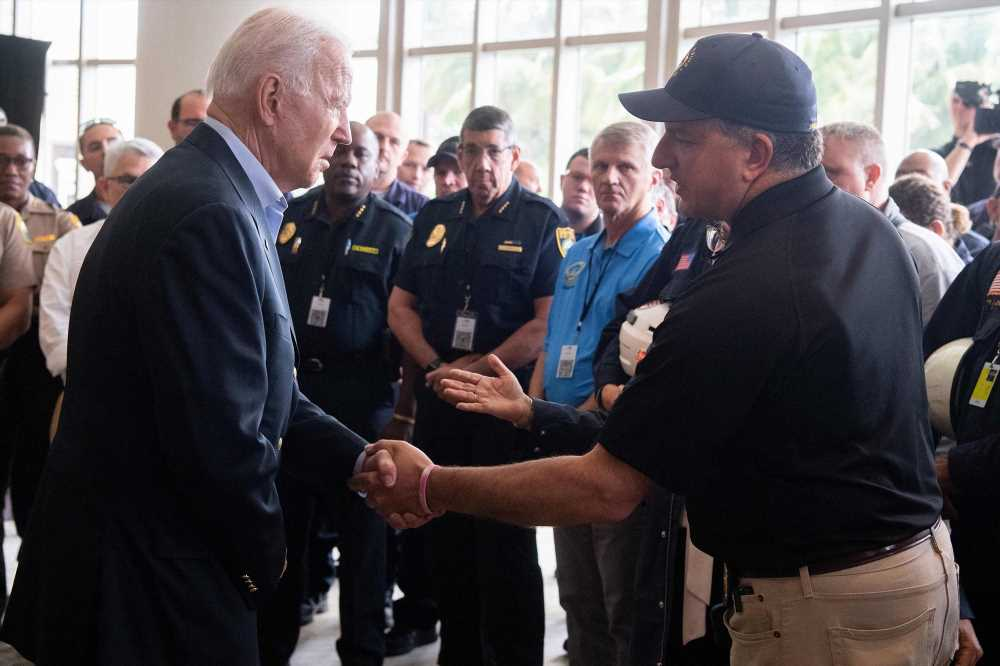 Biden mentions 'good' side of Florida condo collapse during site visit