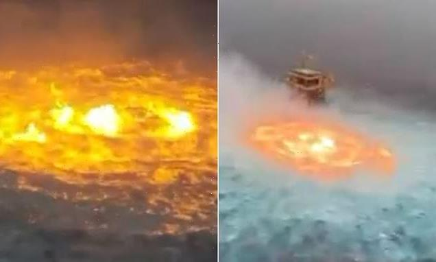 Circle of flames in Gulf of Mexico was sparked by a lightning storm