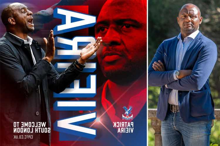 Crystal Palace confirm Patrick Vieira as new boss after Arsenal legend had tweeted it out before deleting message