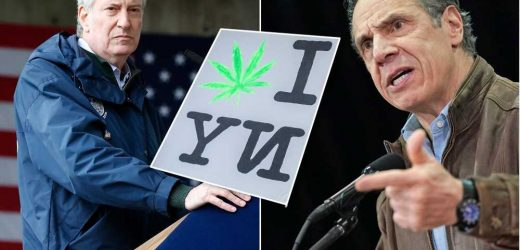 De Blasio tells Cuomo to 'wake up' on weed legalization process