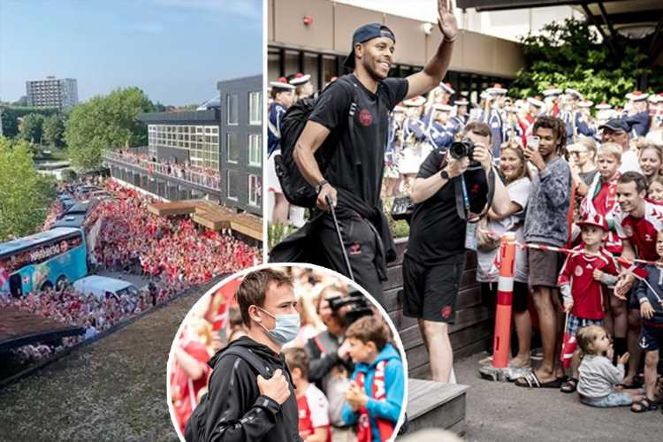 Denmark given heroic send-off by chanting crowd ahead of England clash in Euro 2020 with 8,000 Danes expected at Wembley