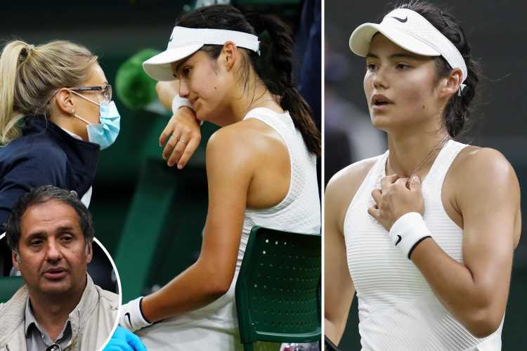 Emma Raducanu's dad hints 'nerves' were down to 18-year-old being forced out of Wimbledon with breathing difficulties