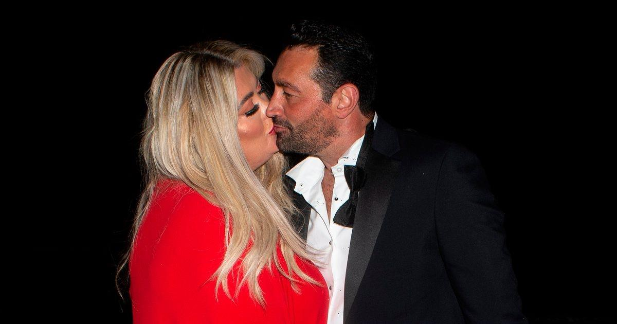Gemma Collins dazzles in red dress with Rami Hawash as she flaunts diamond ring