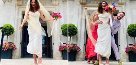 Hollyoaks and The Witcher star Anna Shaffer finally gets married joking she's wed her 'first husband'