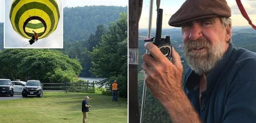 Hot air balloon pilot falls to his death on flight in Vermont