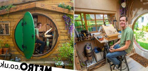 Ikea worker fulfils childhood dream of building 'hobbit house' in his garden