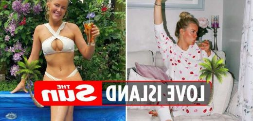 Inside Love Island bombshell Georgia Townend's Essex home all white living room, and HUGE garden