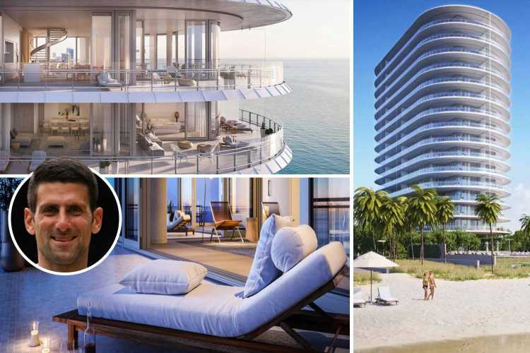 Inside Novak Djokovic's £4m Miami Beach apartment with spa and pools he sold just days after Wimbledon 2021 triumph