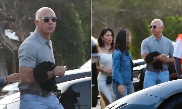 Jeff Bezos pictured dining at Nobu ahead of his spaceflight