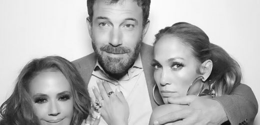 Jennifer Lopez cuddles up with boyfriend Ben Affleck in a sweet new photo as they make their romance Instagram official