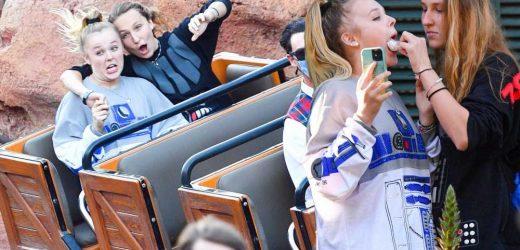Jojo Siwa and girlfriend Kylie Prew get flirty during Disney World date