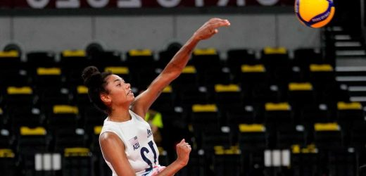 Jordan Thompson is lighting up the volleyball court in Tokyo