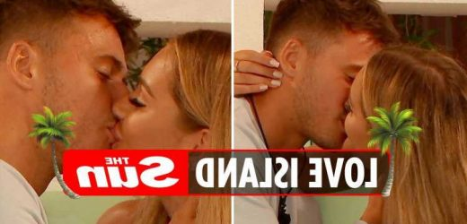 Love Island spoilers: Lucinda and Brad share steamy kiss tonight as drama in the villa reaches boiling point