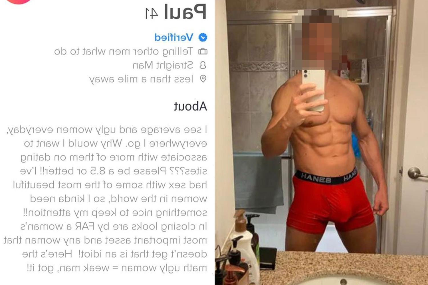 Man who boasts about sex with 'world's most beautiful women' & claims you need to be an 8.5/10 to date him gets roasted