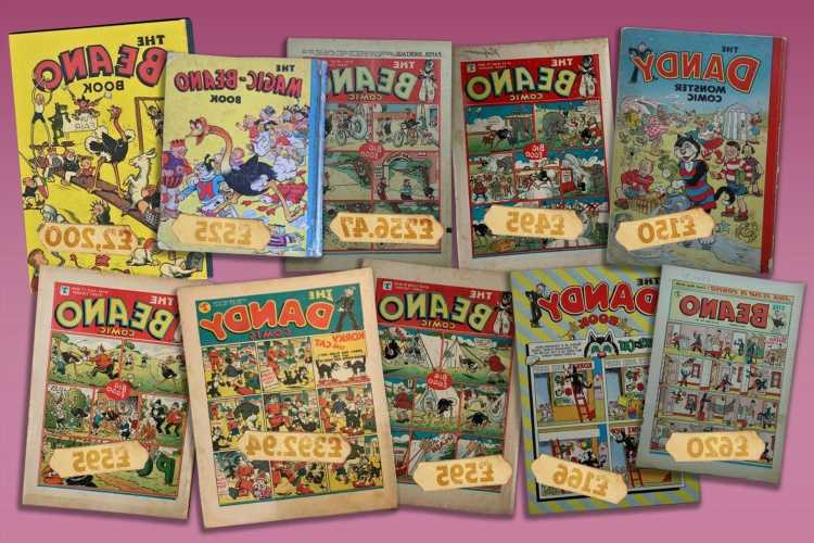 Old Beano or Dandy comics are selling for up to £2,200 – how to spot them