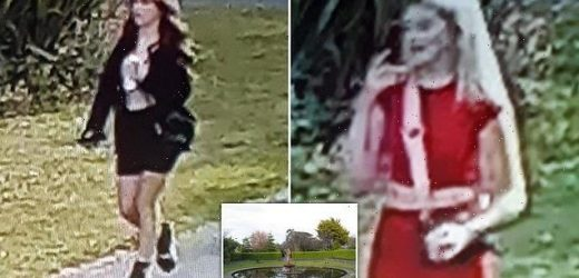 Police hunt for two women over fires at historic botanical gardens