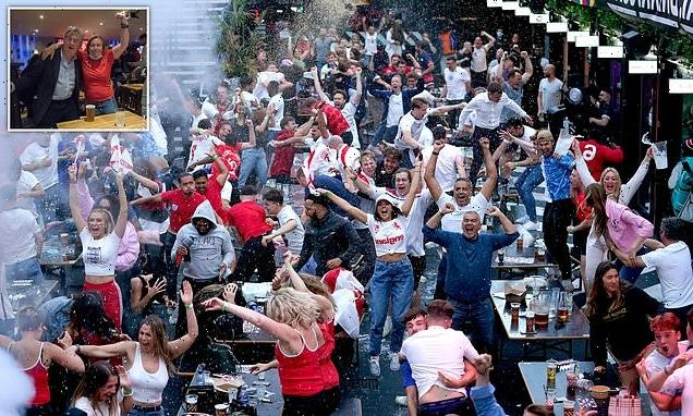 ROBERT HARDMAN joins England fans near Wembley Stadium