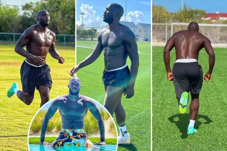 Romelu Lukaku works out in Florida sun as Inter Milan striker gears up to face Arsenal in pre-season clash