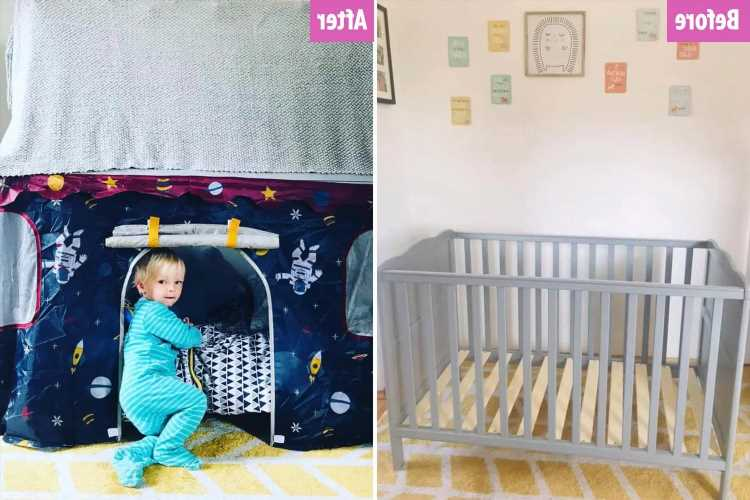 Savvy mum transforms son's old cot into epic play tent in two hours – and it didn't cost her a penny