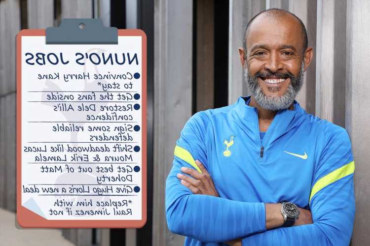 Seven things top of Nuno Espirito Santo's Tottenham to-do list including convince Harry Kane to stay and offload Moura