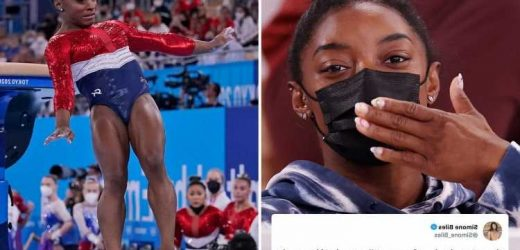 Simone Biles breaks silence to thank fans and says she's 'more than gymnastics' after shock Olympics withdrawal
