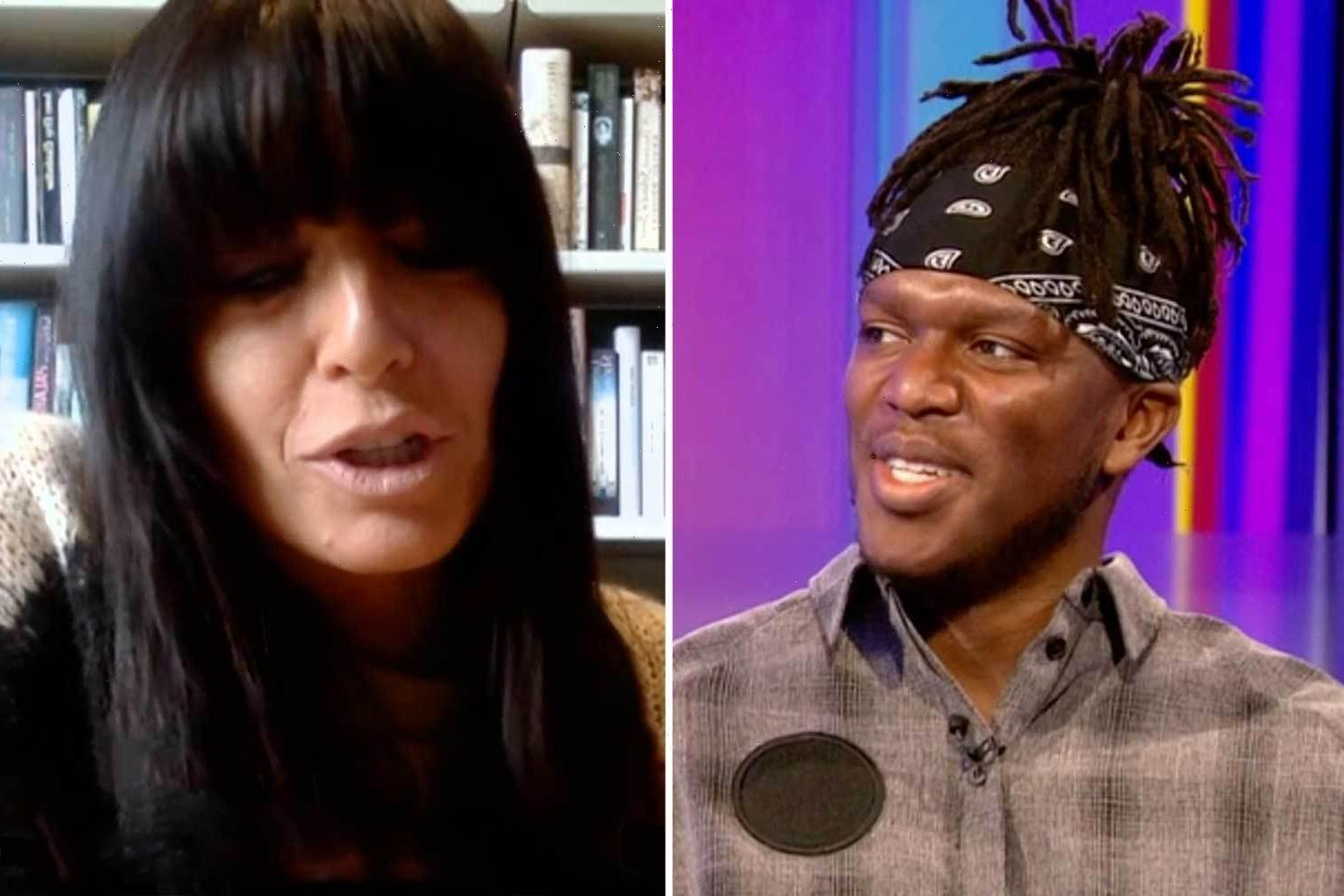 Strictly's Claudia Winkleman shut down by KSI over show 'curse' as he reveals his girlfriend BANNED him from signing up