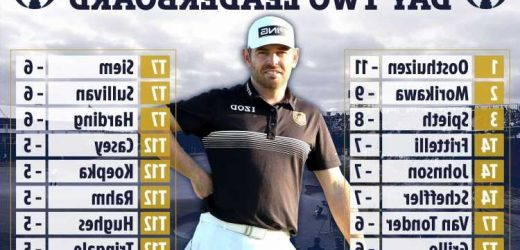 The Open tee times – round 3: Louis Oosthuizen in Saturday final pair with Collin Morikawa after taking two-shot lead