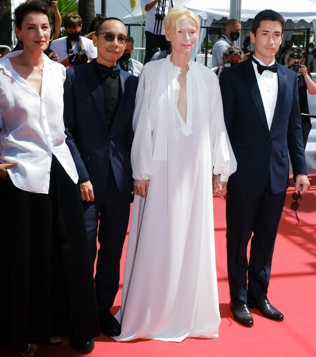 """""""Tilda Swinton wore a dreamy Chanel nightgown in Cannes"""" links"""