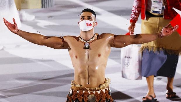 Tokyo Opening Ceremony: The Tonga Flag Bearer Is Back & Yes, He's Still Shirtless — Photo