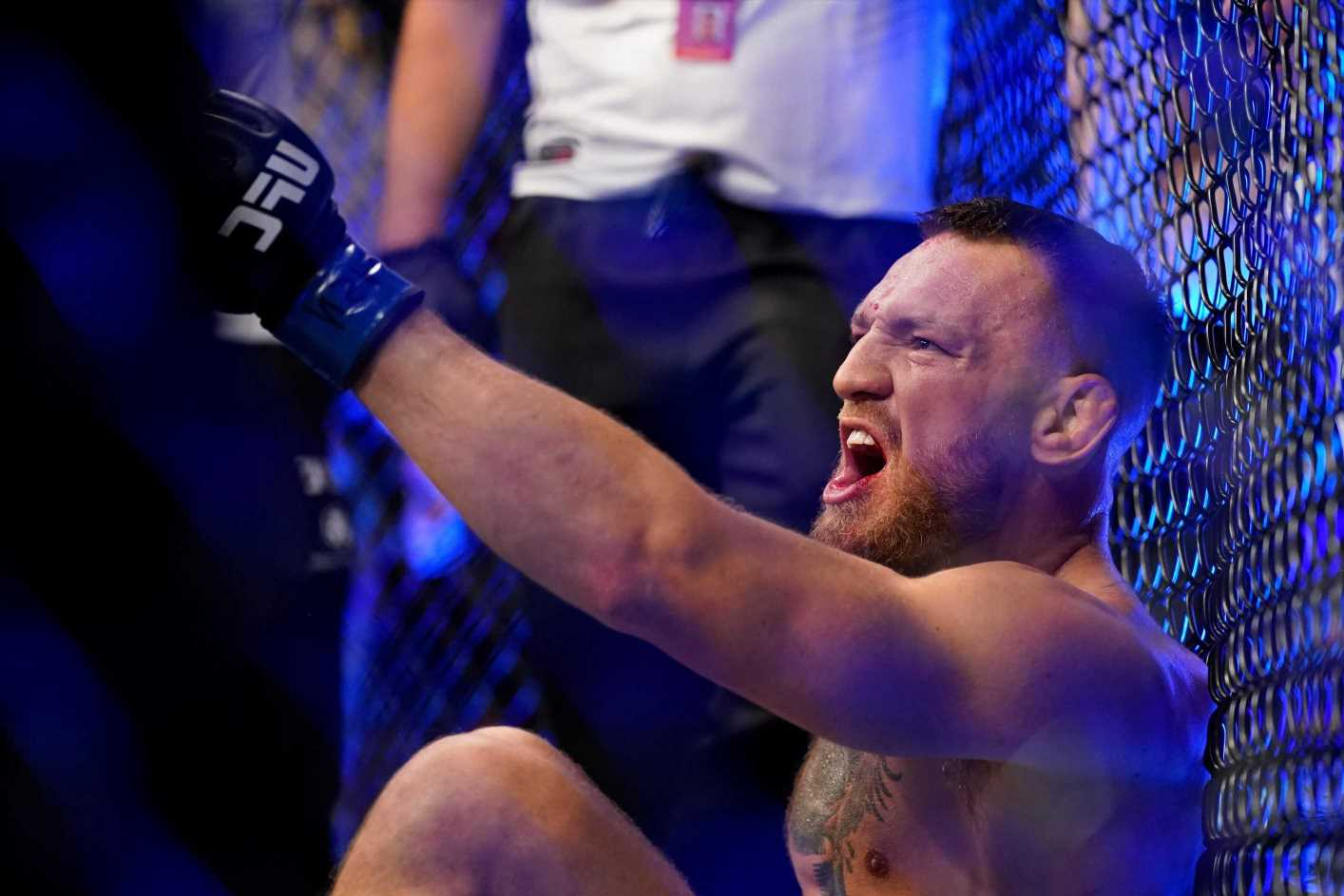 What Conor McGregor told medics as doctor rushed in after suffering HORROR ankle injury against Poirier at UFC 264