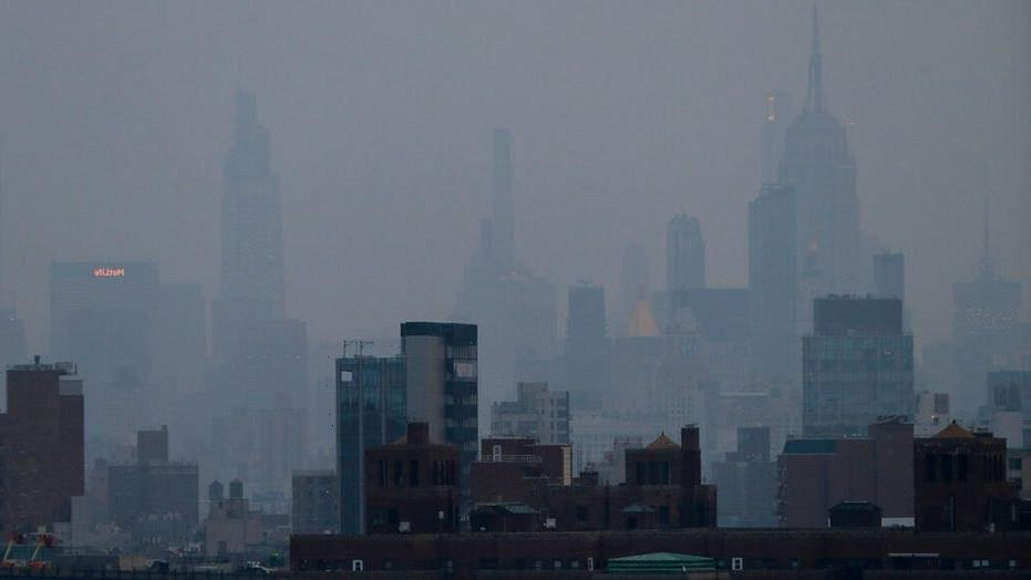 Why did the air quality in these states plummet on Tuesday?