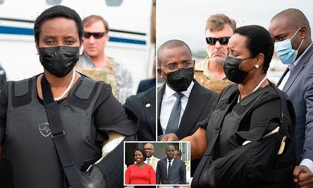Widow of Haiti's assassinated president Jovenel Moise arrives home