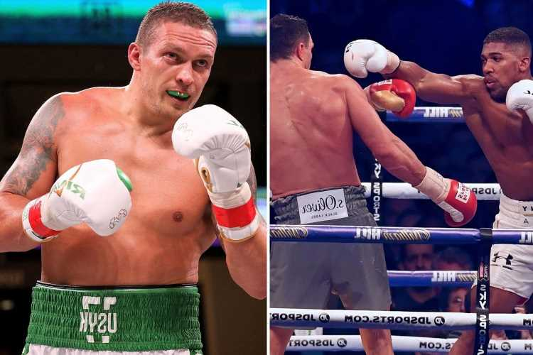 Anthony Joshua to 'KO Oleksandr Usyk with a jab' as Ukrainan's firepower for Tottenham tussle is ruled out