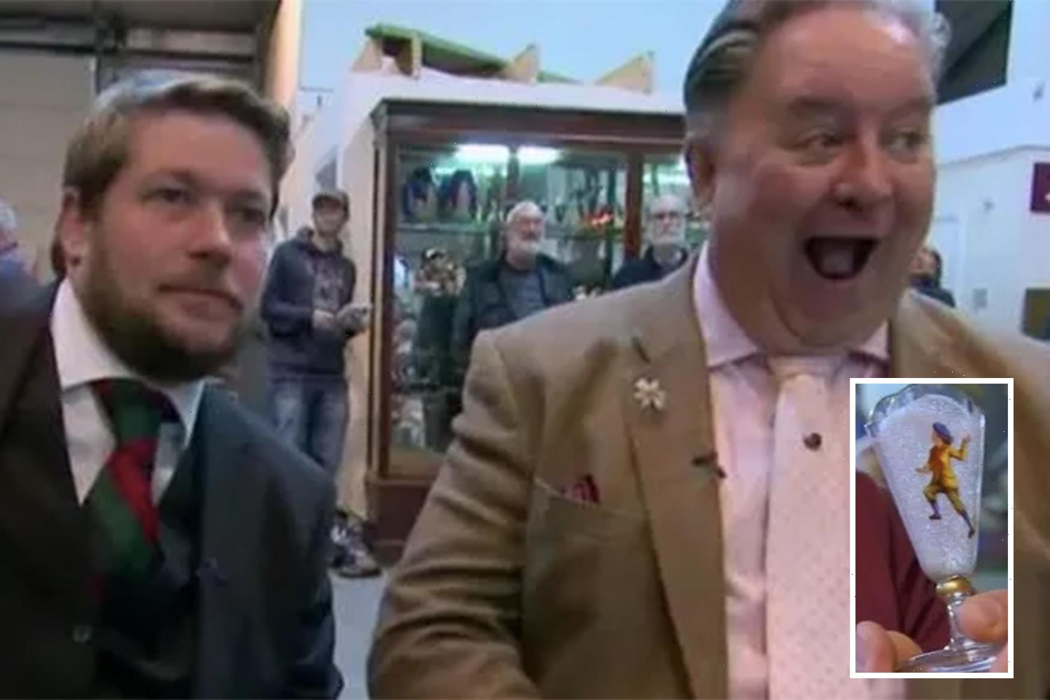 Antiques Road Trip expert's jaw drops as tiny vase sells for DOUBLE what he paid for it