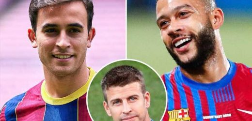 Barcelona FINALLY register Depay and Garcia after Pique agrees to take 'significant' pay cut to help cash crisis