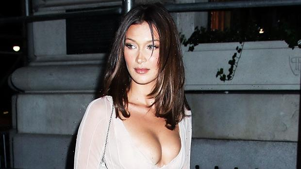 Bella Hadid Looks Incredibly Fit As She Strikes Sexy Poses In Purple Lingerie — Photos