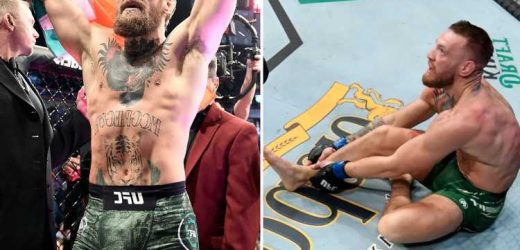 Conor McGregor vows to use broken leg as 'launchpad' for a 'major comeback' as UFC boss Dana White targets 2022 return