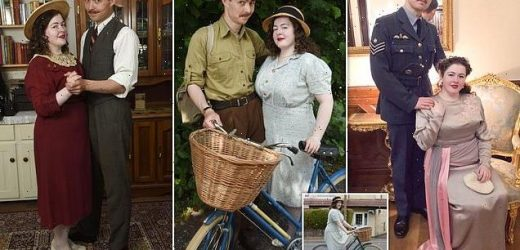 Couple in 20s shun modern life to dress in1930s and 1940s attire