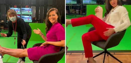 Dan Walker jokes Olympics co-host Sam Quek had 'another wardrobe issue' and pays tribute to her 'gold medal performance'
