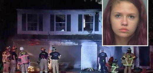 Emma Presler, 19, arrested for 'killing man when she torched couple' months after charge for 'murdering' disabled woman