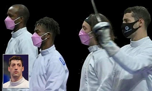 Fencer accused of sexual misconduct confront teammates in pink mask
