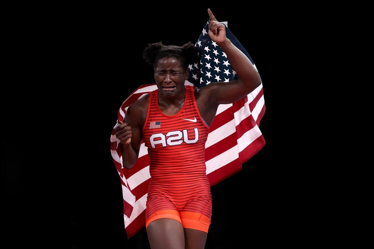 First Black wrestling champion becomes Olympic breakout star for amazing reaction to winning Gold for USA