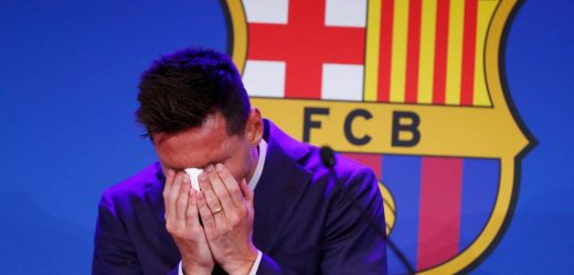 Football: Messi breaks down, says he wasn't ready to leave Barcelona