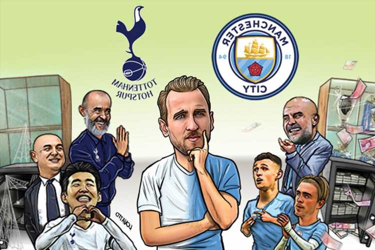 Harry Kane in bizarre transfer limbo as rivals Tottenham and Man City battle for his future and clash in Premier League