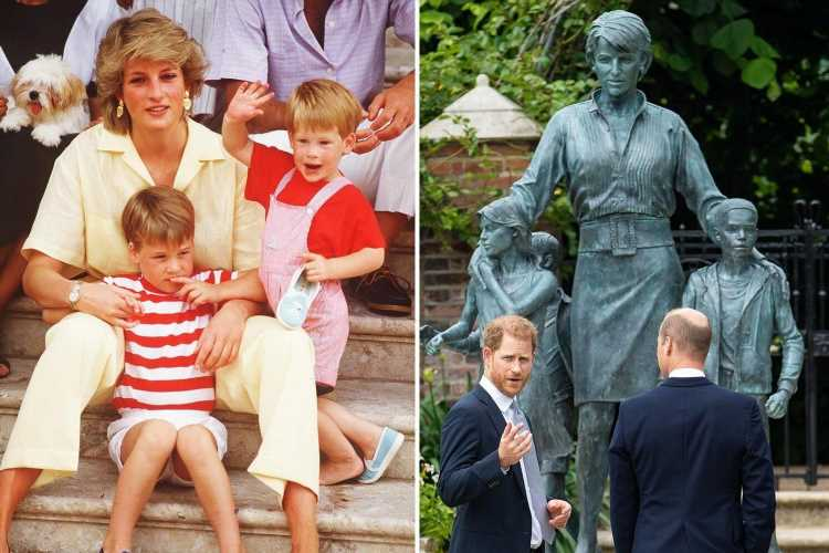 Harry and William's Diana statue to open to public next week to mark anniversary of her death
