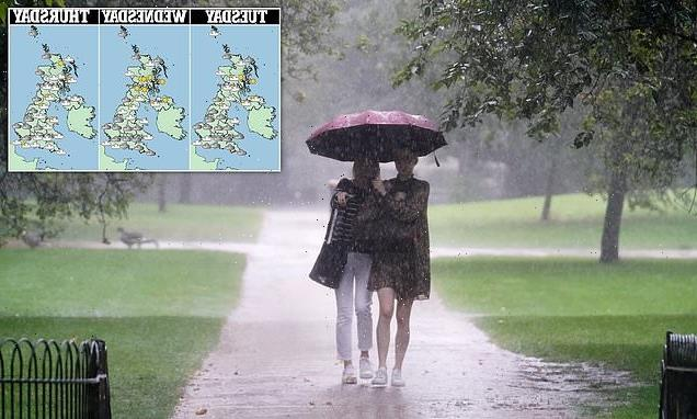 Heavy wind and rain is set to lash the UK next month