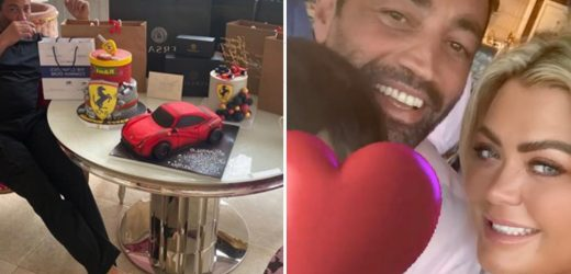Inside Gemma Collins' VERY lavish birthday party for boyfriend Rami with £3k designer gifts, 3 cakes and a balloon arch